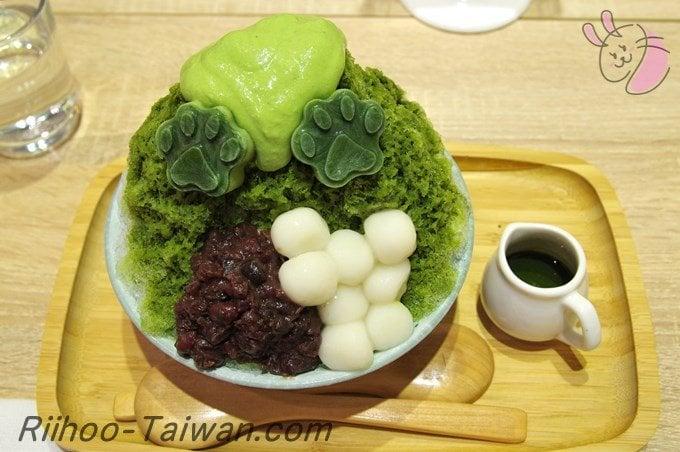 抹抹柴Mozamoza-注文した日式刨冰-帽子抹茶かき氷