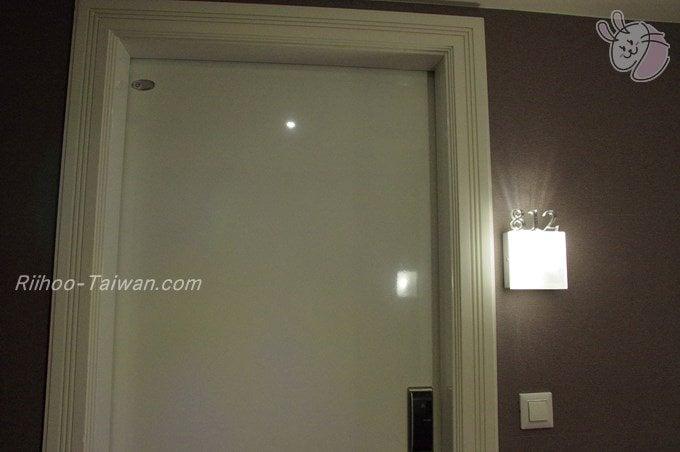 フォワードホテル台北(台北馥華商旅松江館) 宿泊した部屋入口