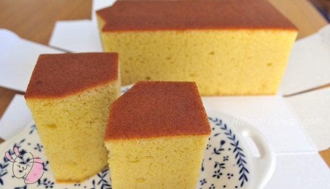 微熱山丘 蜜豐糖蛋糕 皿にもったところ