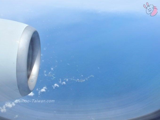低く飛んでいた飛行機