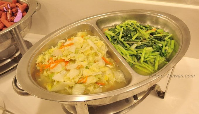 グッドライフホテル(上樺旅棧) 野菜の炒めもの