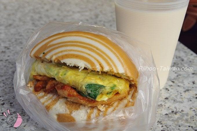 家蓁早餐店 豆漿 饅頭蛋加土雞肉