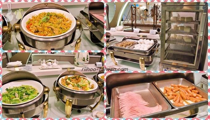フォワードホテル台北(台北馥華商旅松江館)  朝食ビュッフェ 温かいおかず