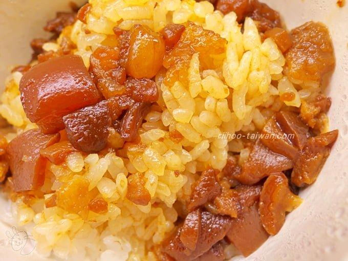店小二  魯肉飯 少し魯肉が少ないけど混ぜたら丁度いい味