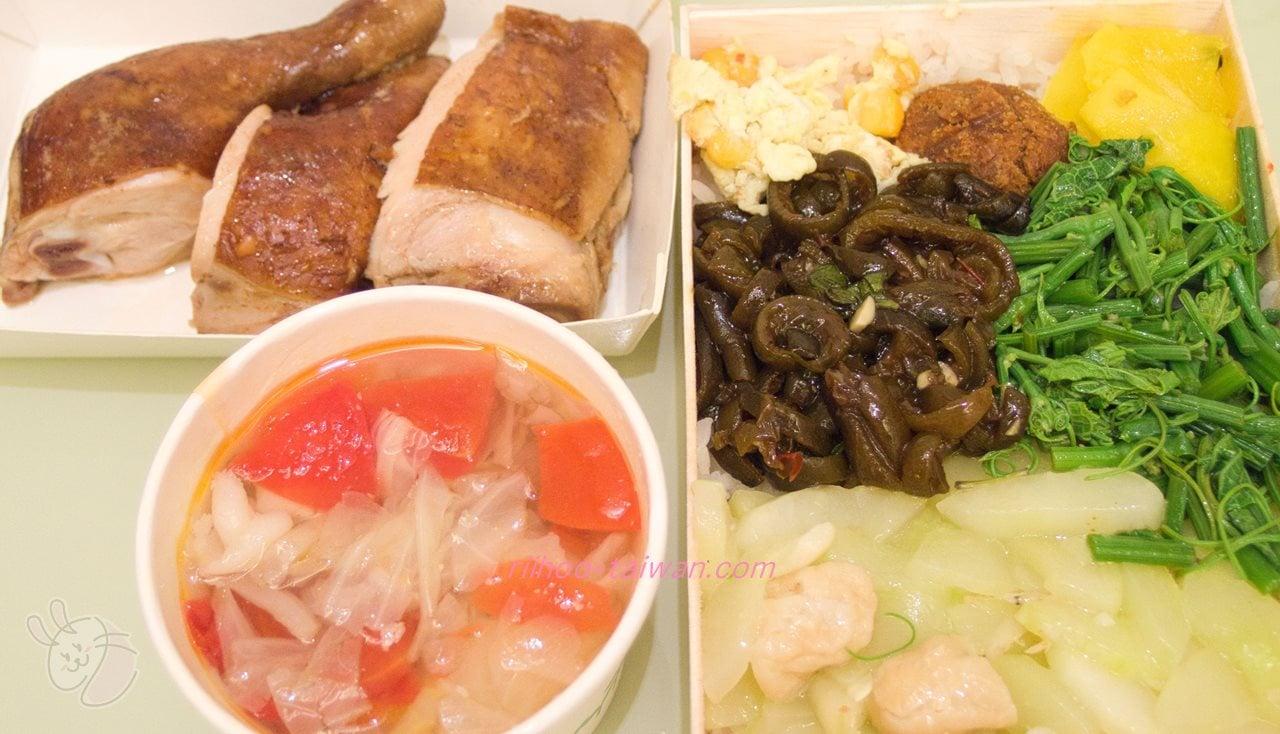 池上木片便當 (錦州街店)  蜜汁焼烤雞腿飯 弁当の中身