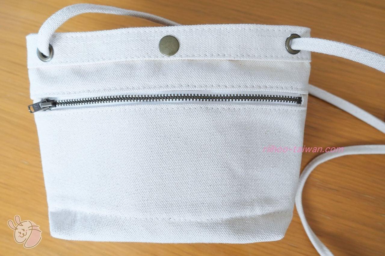 Pinkoi・自做自售創意供賣局  サコッシュ 裏側にファスナー付きポケットがあります