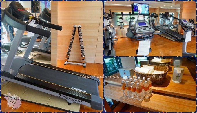 ホテルCOZZI(コッツィ)民生館 2Fジム  何台ものマシンとペットボトルの水があります